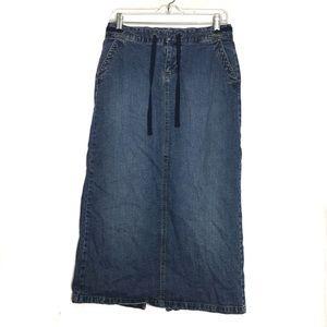 Old Navy Long Blue Jean Denim Maxi Skirt